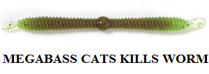 Megabass Cats kills worm
